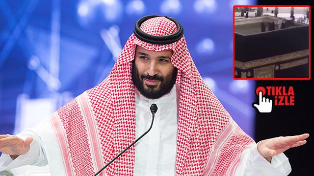 Prens Selman Kabe'nin çatısına çıktı!
