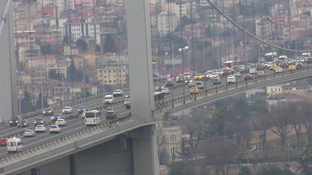 15 Temmuz Şehitler Köprüsü'nde şüpheli paket alarmı!