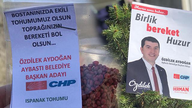 CHP'li adaydan tohumlu seçim çalışması