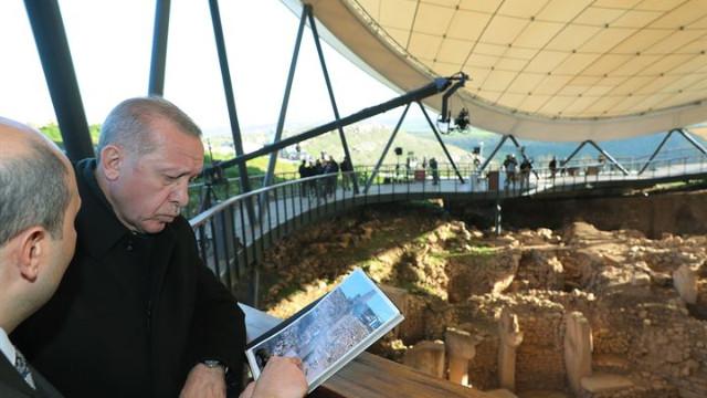 Cumhurbaşkanı Erdoğan Göbeklitepe Ören Yeri'ni inceledi