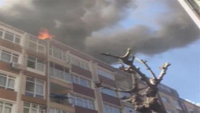 İstanbul'da 6 katlı binada yangın çıktı