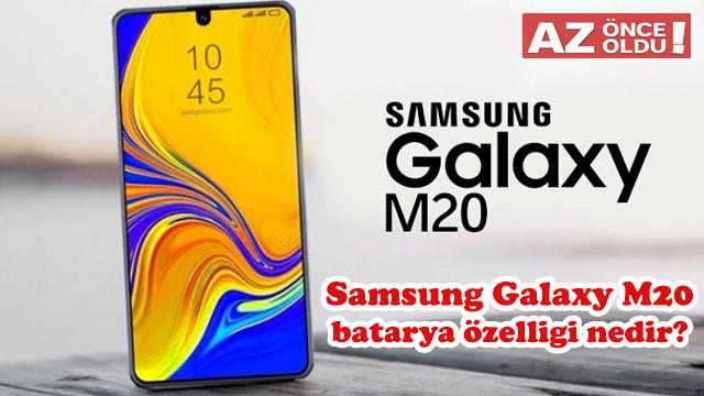13 Mart 2019 Oyna Kazan ipucu: Samsung Galaxy M20 batarya özelliği nedir?