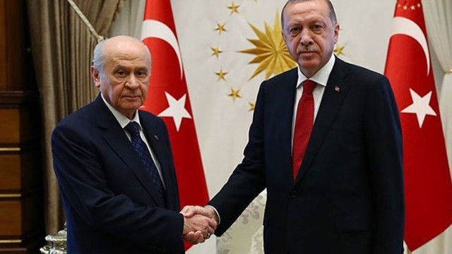 Erdoğan, Bahçeli görüşmesi sona erdi