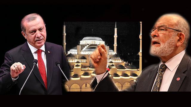 Cumhurbaşkanı Erdoğan ve SP lideri Karamollaoğlu arasındaki cami tartışması