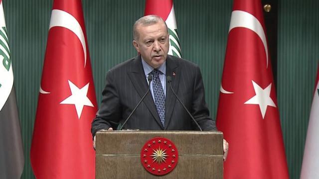 Cumhurbaşkanı Erdoğan: Irak ile Türkiye arasında askeri anlaşma yapılmasına karar verdik