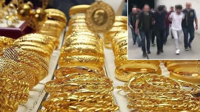 430 kilo altın baskınla ele geçirildi