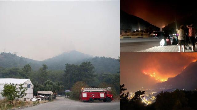 Muğla'daki orman yangını sürüyor!