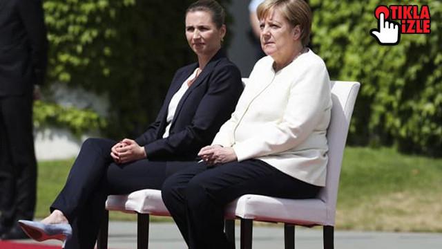 Merkel bu sefer sandalyeye oturdu! Titreme nöbetine önlem