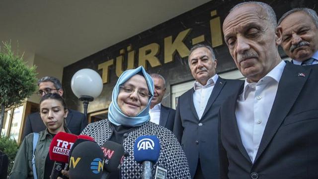 Türk-İş Aile, Çalışma ve Sosyal Hizmetler Bakanı arasındaki görüşme başladı