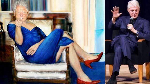 Jeffrey Epstein'ın villasında Bill Clinton tablosu bulundu