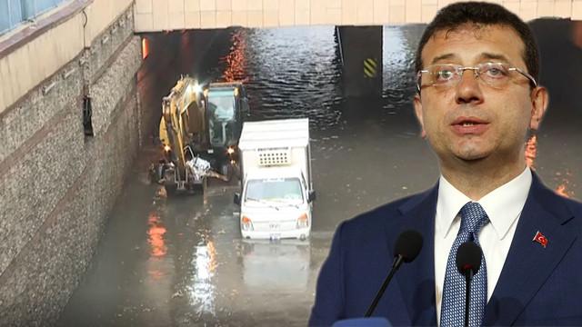 İBB Başkanı Ekrem İmamoğlu'ndan sel açıklaması