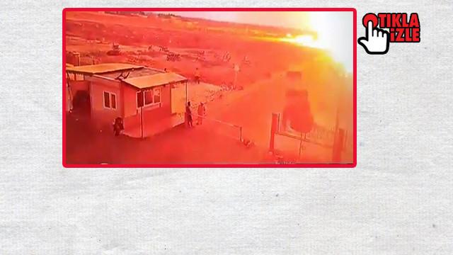 Çobanbey'deki patlama görüntüleri ortaya çıktı