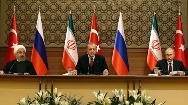 Erdoğan, Putin ve Ruhani ortak açıklama yaptı