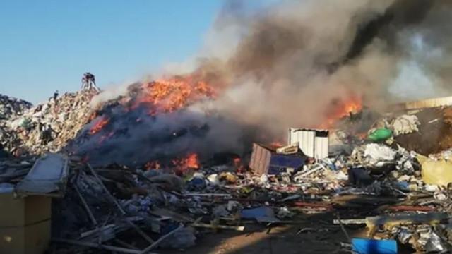 Bursa'da, geri dönüşüm fabrikasında yangın!