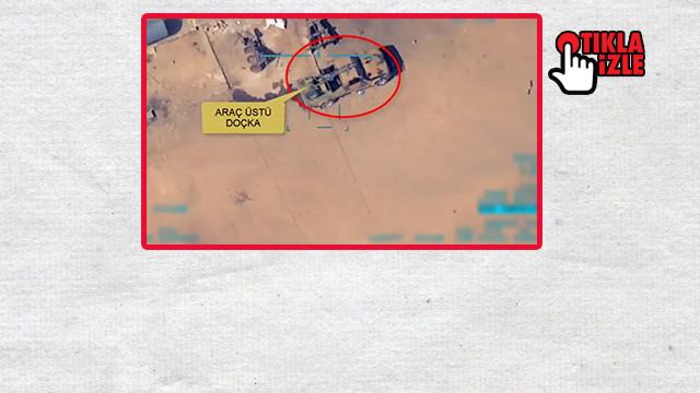 Terör örgütlerine ait Doçka uçaksavar araç vuruldu