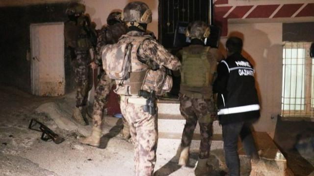 Gaziantep'te 1720 polisle uyuşturucu operasyonu