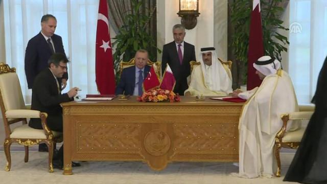 Türkiye ile Katar arasında 7 anlaşma
