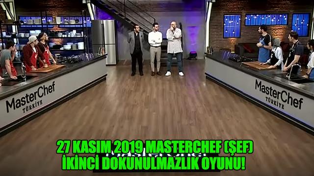 27 Kasım 2019 Masterchef (şef) ikinci dokunulmazlık oyunu!