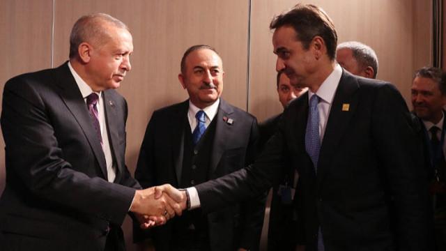 Cumhurbaşkanı Erdoğan, Yunanistan Başbakanı Miçotakis ile görüştü