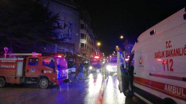 Amasya'da korkutan yangın