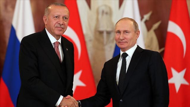 Erdoğan ve Putin Berlin'de görüştü
