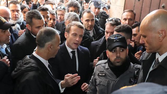 Macron, İsrailli güvenlik güçleriyle tartıştı!