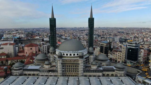 Taksim Camii inşaatında sona gelindi