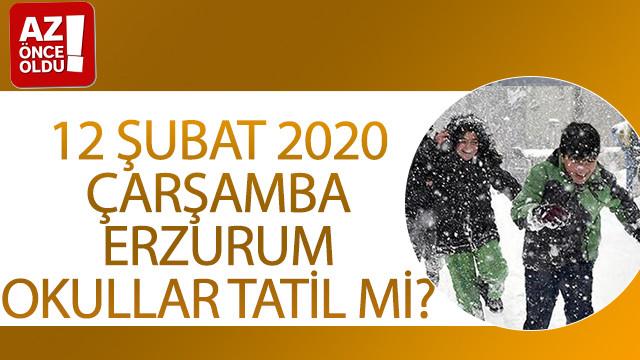 12 Şubat 2020 Çarşamba Erzurum'da okullar tatil mi?