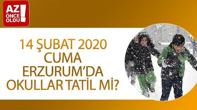 14 Şubat 2020 Cuma Erzurum'da okullar tatil mi?