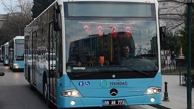 Tekirdağ'da toplu ulaşım yasaklandı!