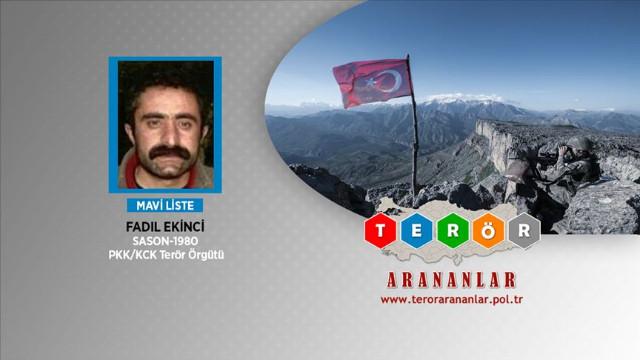 PKK'nın Zap sorumlusu etkisiz hale getirildi