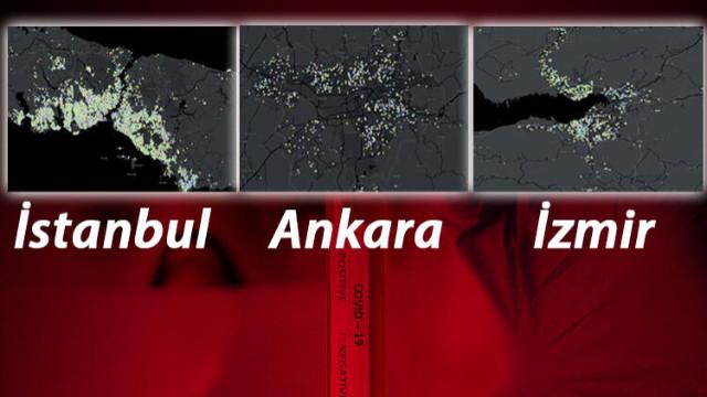 Koronavirüs salgınında İstanbul, Ankara ve İzmir'de en riskli ilçeler!