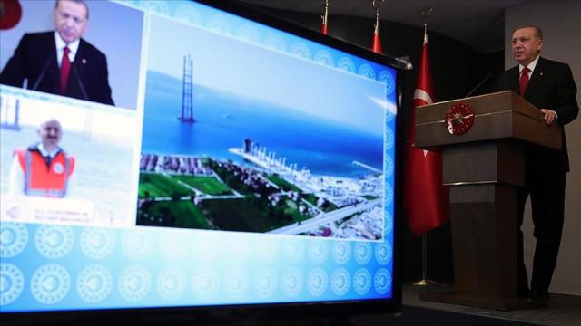 Erdoğan: Çanakkale Boğazı'na köprü inşaatı asırların hayalidir