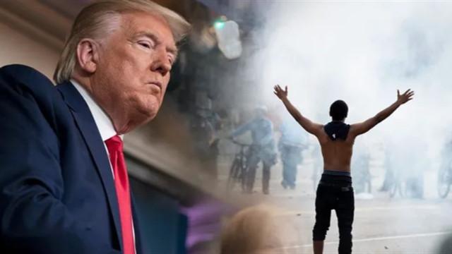 Trump gösteriler hakkında konuştu: Olanları izleyemem, silahlar ateşlenir