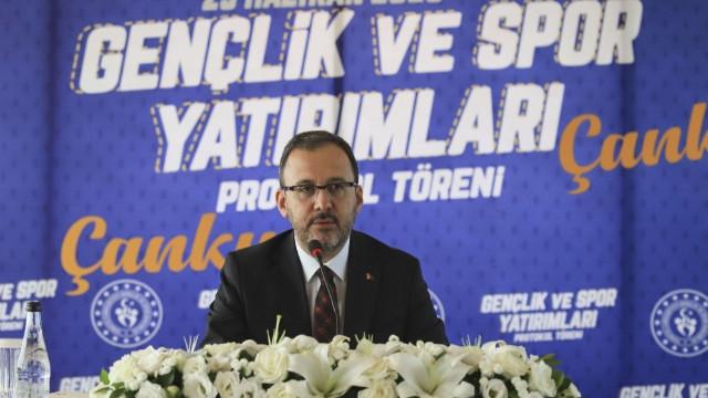 Çarkırı haberleri... Gençlik ve Spor Bakanlığı'ndan Çankırı'ya 32 milyon TL'lik yatırım