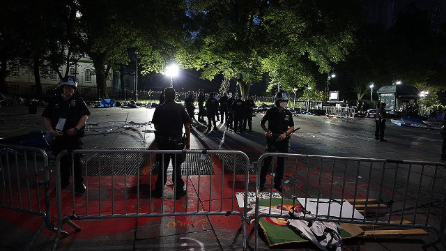 New York'ta bir aydır işgal eylemi yapan protestocular dağıtıldı