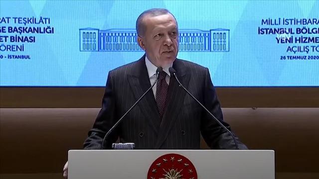 Cumhurbaşkanı Erdoğan'ın katılımıyla MİT'in İstanbul binası açıldı