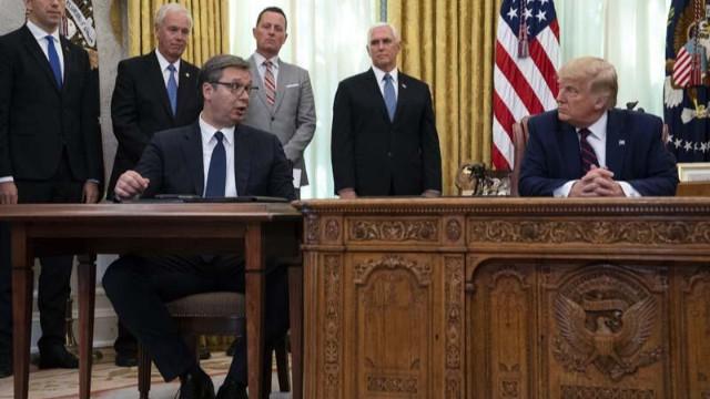 Trump'tan Kudüs açıklaması! Sırbistan lideri Vucic'in şaşkınlığı