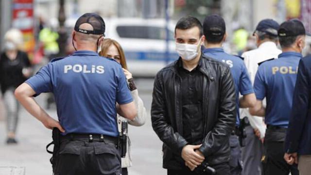 4 polis memuruna maske cezası