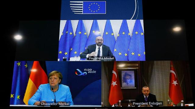 Cumhurbaşkanı Erdoğan, Merkel ve Michel ile görüştü