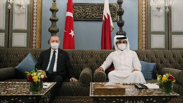 Cumhurbaşkanı Erdoğan Katar'ı ziyaret etti