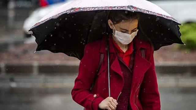 Yağmurda ıslanan maskeyi sakın takmayın!