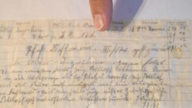 Posta güvercinin düşürdüğü 110 yıllık askeri mesaj bulundu