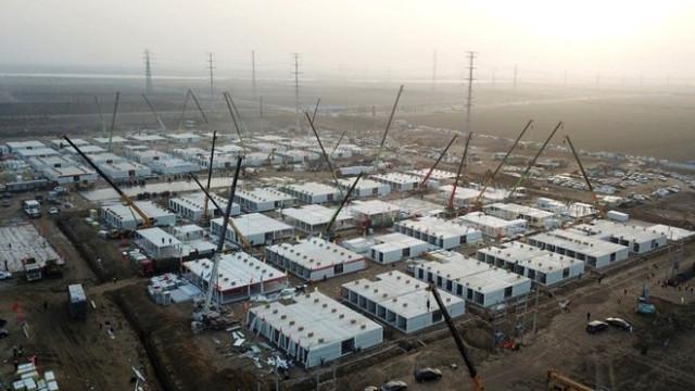 Çin'de 4 bin kişilik dev bir karantina tesisi
