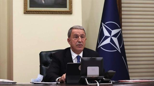 Bakan Akar'dan NATO'ya yanıt: Terörle mücadelede müttefiklerin birlikte hareket etmesi gerekir