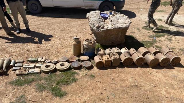 Tel Abyad'da ele geçirilen 30 kilogram patlayıcı imha edildi