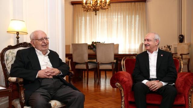 Kemal Kılıçdaroğlu'ndan Hüsamettin Cindoruk'a ziyaret