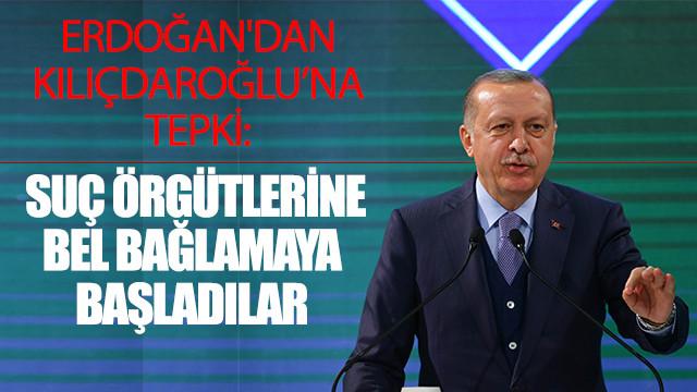 Erdoğan: Yetmezmiş gibi şimdi de suç örgütlerine bel bağlamaya başladılar