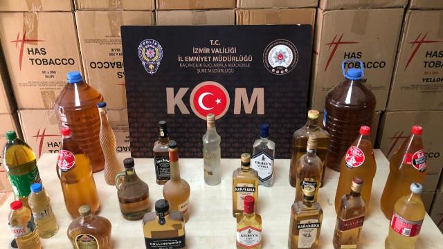 İzmir'de piyasa değeri 6 milyon liralık kaçak ürün ele geçirildi