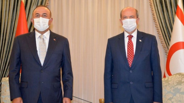 Çavuşoğlu ile KKTC Cumhurbaşkanı Tatar'dan ortak açıklamalar!